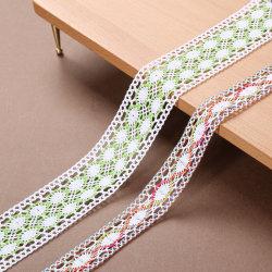 Cinta de encaje de ganchillo algodón color prenda decorativa de coser