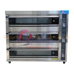 Four à Pizza d'équipements commerciaux de boulangerie à 3 plateaux de tablier de pont 9 Gaz de four de cuisson au four