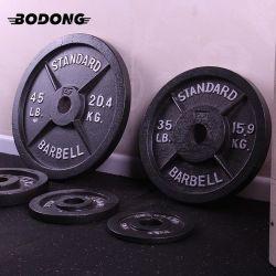 Preiswertes Qualitäts-Ausgangseignung-Gymnastik-Geräten-haltbare Roheisenbarbell-Gewicht-Platte