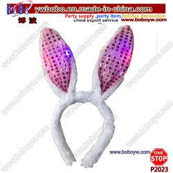 Décoration de mariage anniversaire Les Cadeaux de lumière LED de la bande de tête de lapin en peluche Haut Accessoires de cheveux (P2023)