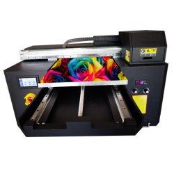 A2 3 cabezales de impresión la impresora plana UV de escritorio con barniz negro y color