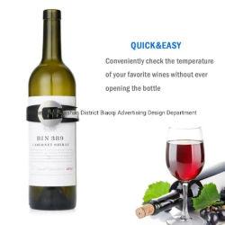 Champán y botella de vino Termómetro para ajustar los termómetros de lectura instantánea digital con pantalla LED para el vino tinto entusiasta de termómetro de pulsera