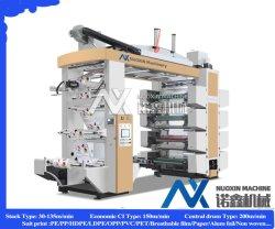 De PP/PVC/PD/PE 6 a Cores de Alta Velocidade de filme plástico branco Flexo máquina de impressão
