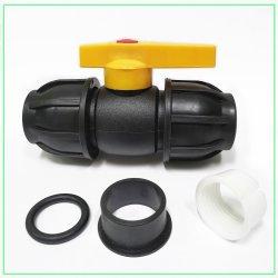 De HDPE de plástico PE rápida conexão da válvula de esfera de compressão Green PPR PVC PE UPVC ligação dupla verificação da válvula de esfera de duas peças no fundo da Válvula de Retorno da Válvula de pé