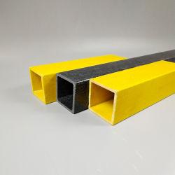 Prfv GRP clarabóias de plástico Perfis Pultruded Praça oco do tubo Retengular para construção
