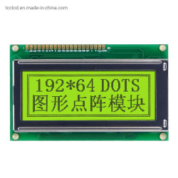 RoHS 192X64 gráficos em tela de matriz DOT Stn 3,5 polegadas LCD SABUGO o módulo do Mostrador