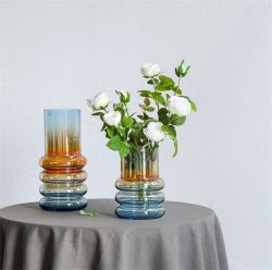 نموذج جديد Nordic Creative Electric Blue Changing Glass Vase Living ديكور الغرفة