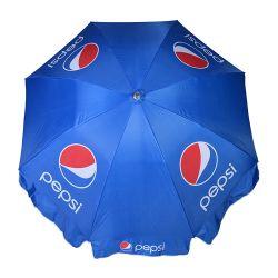 Promoção de Guarda-chuva exterior à prova de vento e sombra de sol Guarda-sóis grandes publicitários no pátio