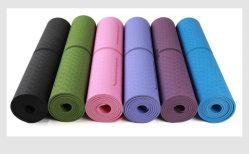 Tapete de Yoga TPE com linha de posição do tapete tapetes anti-deslizante para principiante