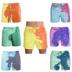 Les hommes Color-Changing personnalisé par l'eau Conseil Shorts de plage