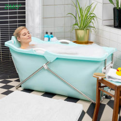 Sgs-preiswertes Badezimmer-faltende Wannen-bewegliches Bassin-faltbare Plastikbad-Wanne-Badewanne 2020 für Erwachsenen