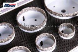 직업적인 종류 단 하나 및 장비 포장을%s 가진 드릴링 석공술 세라믹 강철 그리고 단단한 물자를 위한 다중 사용 Vacuume에 의하여 놋쇠로 만들어지는 다이아몬드 코어 비트