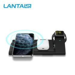 Ricarica personalizzata del telefono cellulare 10 W, max. 3 in 1 wireless Supporto di ricarica caricabatteria wireless regolabile