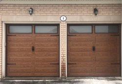 Стальная дверь, разрез двери гаража, изолированная полиуретановая пенная панель