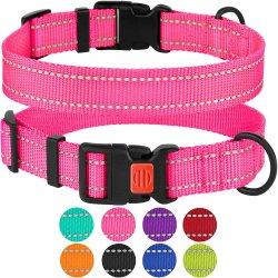 Reconfortante ajustable asas de nylon acolchado de seguridad de los collares para perros
