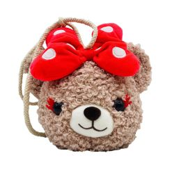 Girls를 위한 동물성 Shape Plush Shoulder Bag Stuffed Bear Bags