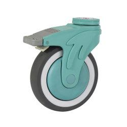 De middelgrote Wartel van de Plicht Gietmachine van de Wartel van de Klinknagel van de Vork van 4 Duim de Plastic Holle met Medisch Wiel TPR