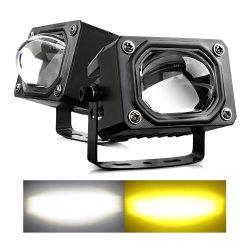 الأجزاء التلقائية لعدسة جهاز العرض مصباح العمل للسيارة 6500 K 4300K أبيض مصباح الضباب على الطرق الوعرة للشاحنة الكهرمانية بقدرة 30 واط، مصابيح قيادة LED بجهد 24 فولت وقدرة 12 فولت