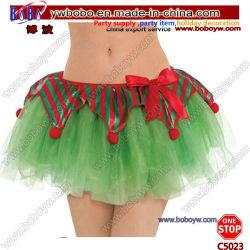 Costumi adulti del partito dei regali di natale degli articoli per ufficio di usura di ballo del tutu dell'elfo (C5023)