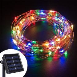 50 LED werkt op batterijen met 8 modi Timer kerstdecoratie Kerstverlichting Strings Outdoor Gordijn LED String Light