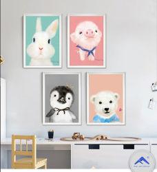 귀여운 카툰 돼지 벽 행잉 페인팅 홈 장식용 페인트