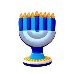 С удовлетворением Hanukkah menorah надувные украшения открытый двор с помощью