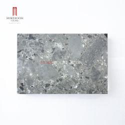Большой серый слоя цемента пол плитками Тераццо камня