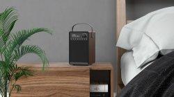 La radio digital AM/FM con Bluetooth y USB de madera real DRM caso Reciption perfecto