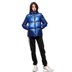 Зимой на велосипеде водонепроницаемый Windbreak бархата колпачковая вниз Куртки для женщин