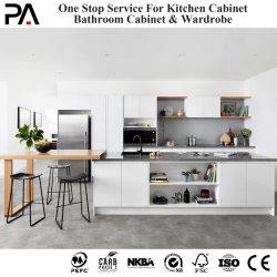PA Flat Pack in PVC bianco melammina lacquer, moderna RTA modulare Design legno massello armadio completo Mobili Cabinesia armadio da cucina