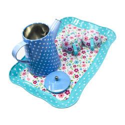 Assiette enfant fleur cuisine jouets de jeu métal thé jouets de cuisine Ensembles pour thé pour enfants