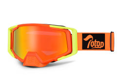 OEM L Größe Fahrradbrille Sport Brillen Rennbrillen winddichtes Helmkompatibilität Motocross Brillen Mx Motorradbrillen Sport Sonnenbrille