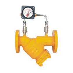 Fabricant Y flasque en acier moulé de la crépine du filtre à carburant se termine avec la jauge de pression différentielle