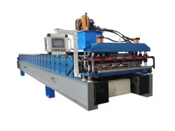 Direct Factory Automatic Trapezbleinen-Rippenblech-Typ-Platte Ibr Box Profil Dach Fliese Panel Herstellung Roll Formmaschine Maschinen Produktionslinie