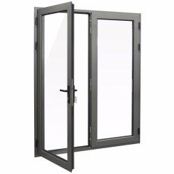 二重ガラスをはめられた蝶番を付けられたドアおよび開き窓のドア