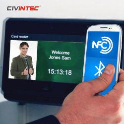 13.56MHz Relógio de Tempo de Impressão Digital Biométrico RFID máquina de cartão de perfuração com o TCP/IP, WiFi, 3G