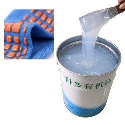 I calzini hanno stampato il materiale organico liquido del silicone del rivestimento antisdrucciolevole