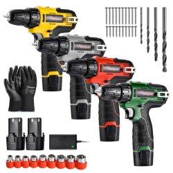 Fonction Safeyear multi outils électriques pour le travail du bois, Marteau rotatif à la main, le matériel de la vis de la clé, sans fil idéal &Power Tools ensemble avec la perceuse et batterie