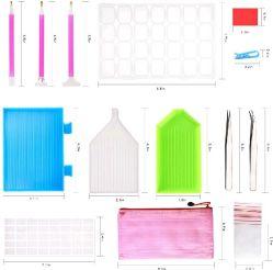 127HP 5D DIY Diamond ferramentas de pintura de ferramenta de costura cruzada