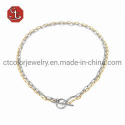 Оптовая торговля высокого качества серебряные позолоченные разъемы и позолоченные двойной ожерелья костюм мода Ювелирные изделия