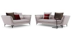 Moderno estilo sueco Asa Traseira três lugares Lounge com sofá amortecer