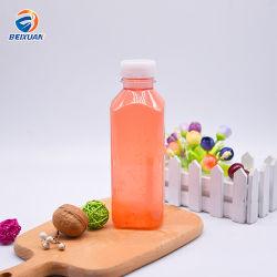 Eco-Friendly 16oz 500ml Praça francesa garrafa de água de plástico para sumo de bebidas