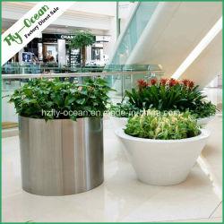 Cylindre en acier inoxydable FO-9003 Pot de Fleurs, semoir de plein air