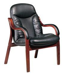 Мебель из красного дерева Китая кожаный стул спинки цельной древесины обеденный стул простое совещание для обсуждения Председатель (FECT18)