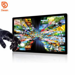 HD 1080 32 인치 IR 운동 측정기 접촉 스크린 광고 다중 매체 토템을%s 가진 잘 고정된 디지털 Signage 선수