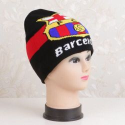 Acrylique Beanie Hat de football de tricot