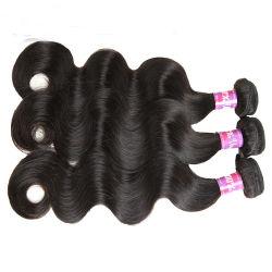Le Tissage de cheveux humain naturel vierge non transformés péruvien de la trame Remy Hair