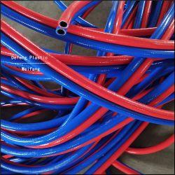 Tubo flessibile del tubo di gas dell'aria del poliestere del PVC mono dell'acetilene a fibra rinforzata ad alta intensità dell'ossigeno