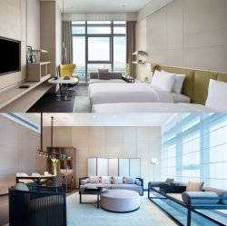 Hotel-Schlafzimmer-Luxuxmöbel des neuen Entwurfs-2019 moderne doppelte (GLBS-0003)