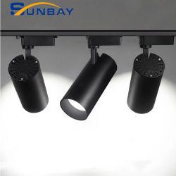Foshan noir haut CRI 2 3 4 le fil 10W 15W 20W 30W 35W 40W 50W à intensité réglable voie lampe LED Plafond COB PAR30 pour Showroom Magasin de vêtements